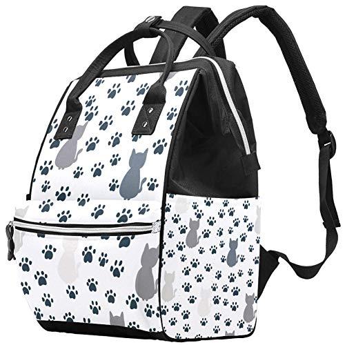 Mochila para pañales de gato, multifunción, impermeable, para mamá, papá, con bolsillos aislados, cambiador, pañales para recién nacidos, regalos para niños