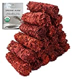 Dragon's Blood Sage Smudge Sticks 4 Inch | Wholesale Sage Smudging Wands for Energy Cleansing, Meditation, Reiki, & Yoga | Bulk Dragon's Blood Sage Bundles (6)