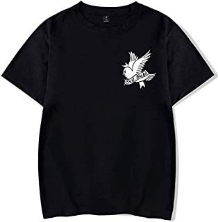 c5002f24574d9 Formesy Unisexe T-Shirt R.I.P Lil Peep Cry Baby Rappeur Hip Hop Printemps  Harajuku Casual