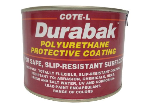 Durabak Original (For Indoors), SMOOTH version - Non Slip Coating, Bedliner, Deck Paint for ALL Boats - Many colors to choose from! - WHITE - QUART