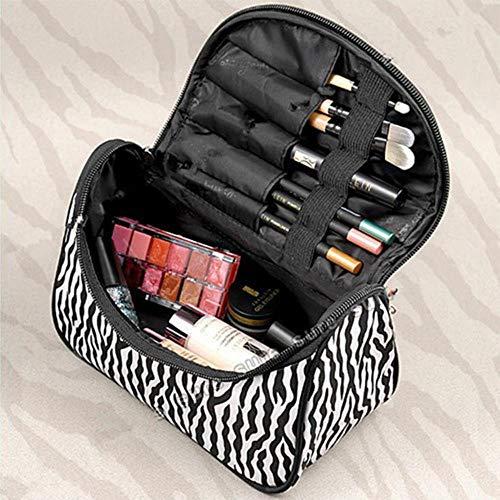 Damen Herren Kulturbeutel Kulturkosmetik Kosmetik Reise Make-Up Reißverschlusstasche Organizer New Zebra Pattern Organizer Aufbewahrungstasche Toilettenartikel-Standard
