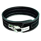 FlexzFitness Leather Weight Lifting and Powerlifting Belt - Back...