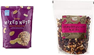 Amazon Brand - Happy Belly Salted Mixed Nuts, 44 Ounce & Amazon Brand - Happy Belly Cranberry & Nuts Trail Mix, 40 oz