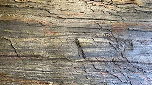 Dünnschiefer Schieferfurnier Stone Veneer Steinfurnier Wandverblender Echtstein Steinwand Glimmerschiefer Steintafel Wandverkleidung Naturstein Steintapete Marmor Sandstein (Stein, 244 x 122 cm)