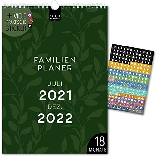 Terminarz rodzinny A4 18 miesięcy: Jul 21-grudzień 22   FLORAL ABSTRAKT   5 kolumn   kalendarz ścienny: 21 x 29,7 cm   kalendarz rodzinny 228 naklejek, wakacje 21/22, kalendarz miesięczny, planer roczny, design, kwiaty, kwiaty