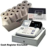 EPOSBITS® Marca 20 rollos + 1 tinta para caja registradora Casio 120CR 120 CR
