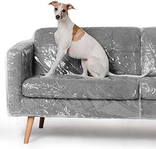 Best Better Than Plastic Slipcover, Vinyl Sofa Protector - 96 Waterproof Pet Furniture Covers for Cats &