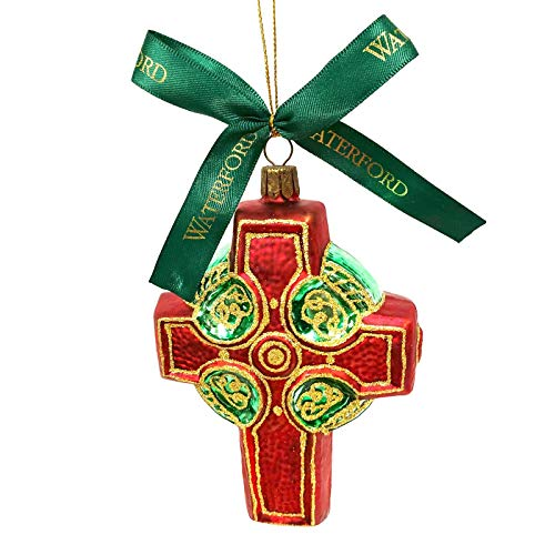 Waterford Holiday Heirlooms Red Celtic Cross Christmas Ornament