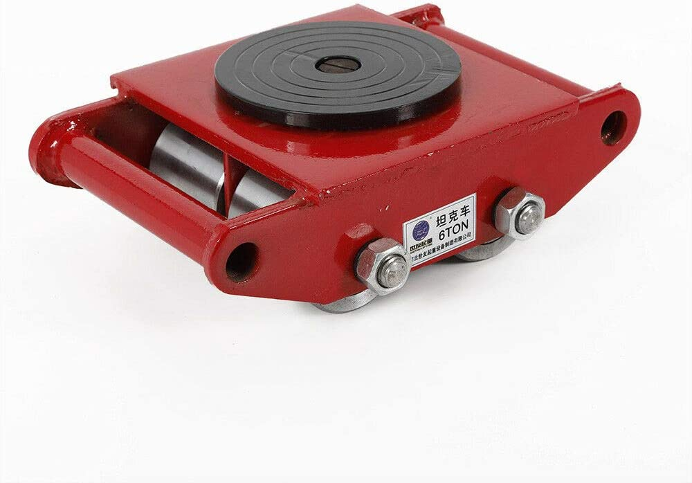 Industrial Machinery Mover Product Red 6T Wheel Steel Selling and selling 13200lb