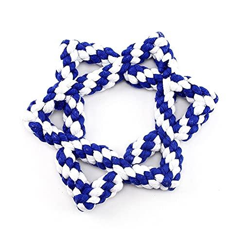 Midlee Hanukkah Star of David 6.5' Rope Dog Toy