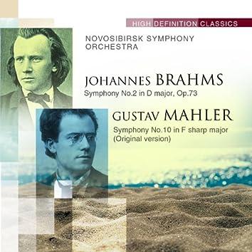 Brahms: Symphony No.2 in D major, Op.73; Mahler: Symphony No.10 in F sharp major (Original version)
