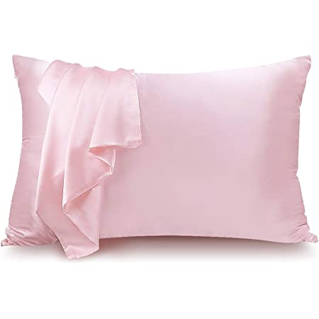 Amazon Com Lulusilk Mulberry Silk Pillowcase For Hair And Skin 100 Pure Silk Pillow Case Cover 16 Momme With Hidden Zipper Pink Standard Size 1 Pack Home Kitchen