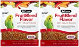 ZuPreem FruitBlend Flavor Pellets Bird Food for Small Birds, 2 lb (2-Pack) - Powerful Pellets Made in USA, Naturally Flavored for Parakeets, Budgies, Parrotlets