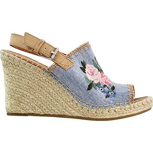 TOMS Womens Monica Floral Platform Sandals Sandals Casual - Blue - Size 9.5 B