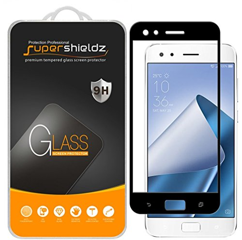 (2 Pack) Supershieldz for Asus (ZenFone 4 Pro) (ZS551KL) Tempered Glass Screen Protector, (Full Screen Coverage) Anti Scratch, Bubble Free (Black)
