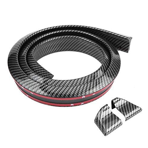 Qii lu 1.6 mt / 5,2 ft kohlefaser weicher gummi hinterer stamm spoiler, auto hinten dach stamm spoiler flügel lippe aufkleber(3.5cm)