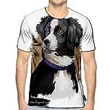 3D Printed T-Shirts Australian Shepherd Dog Breed Digital Art White Aussie Medium Sized Short Sleeve Tops Tees a