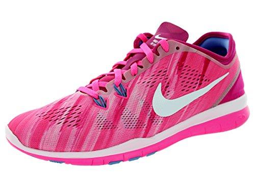 NIKE - Zapatillas para Deportes de Interior para Mujer - Rosa, Pink Pow/Weiss-Fireberry-p, 10