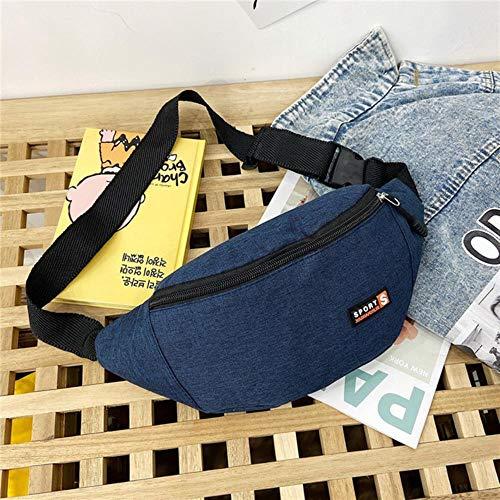 Zent Waist Pack Bum Waist Bag for Mobile Phone Unisex Casual Travel Belt Wallets Zip Running Sport Randonnée Pouch, Blue