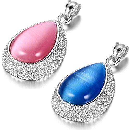 JewelryWe Schmuck 2pcs Damen Halsketten,...
