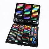 Set de plumas de pincel de acuarela de arte Caja grande herramientas de pintura 150 juegos de regalo del día de lápiz de color Conjunto de cepillos del color Plumas Juego de niños Regalo para amantes