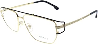 Versace VE 1257 1436 Gold Metal Hexagonal Eyeglasses 55mm