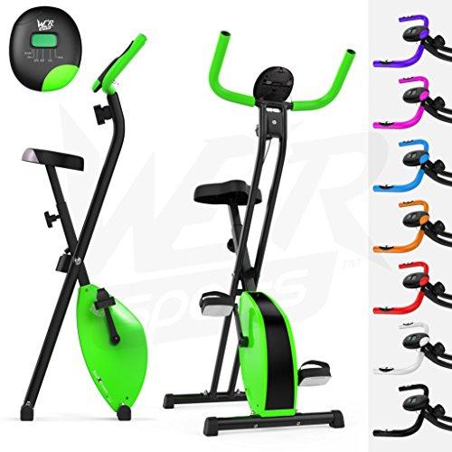 We R Sports Pieghevole Magnetico Esercizio Bici X-Bike Fitness Cardio Allenamento Peso Perdita Macchina (Verde)