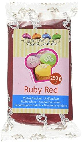FunCakes Pasta di Zucchero Rosso Rubino - 250 gr