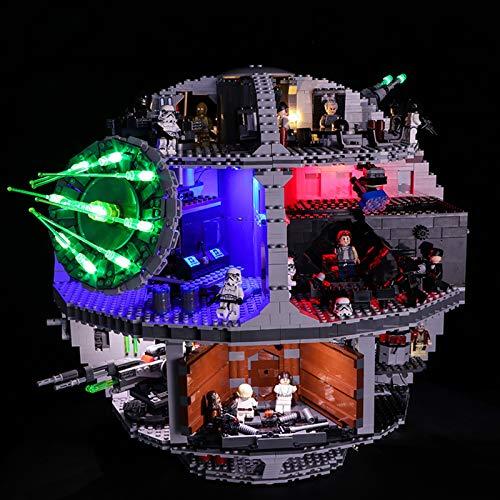 Nlne Conjunto De Luces para (Star Wars Estrella De La Muerte) Modelo De Construcción De Bloques - Kit De Luz LED Compatible con Lego 75159 (NO Incluido En El Modelo)