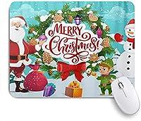 KAPANOU マウスパッド、クリスマスサンタ雪だるまクリスマスツリーエルフ雪 おしゃれ 耐久性が良い 滑り止めゴム底 ゲーミングなど適用 マウス 用ノートブックコンピュータマウスマット