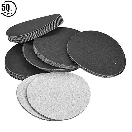 50 stücke 75mm Sander Disc Haken und Schleifen Schleifen Polieren Schleifpapier Pads(400#)
