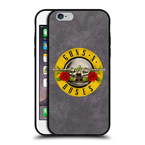 Head Case Designs Ufficiale Guns N' Roses Pieno Logo Cover in Pelle Parte Posteriore Grigio Compatibile con Apple iPhone 6 / iPhone 6s