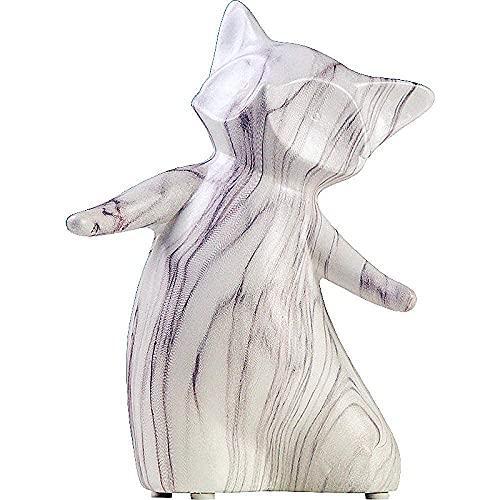 BBZZ Figuras de jardín, Estatua Ornamento Esculturas y Estatuas de Mármol Raya Zorro Estatua Animales Cerámica Artesanía Oficina Mostrar Ventana Sala Decoración