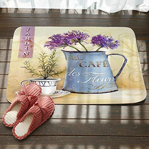 Deurmat, 3D-printhe vaas bloempot antislip ingang tapijt mat, deurmat welkom slaapkamer hal tapijt rechthoekige zachte deurmat voor huis woonkamer keuken 40×60cm