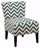 Ashley Furniture Signature Design - Ravity Accent Chair - Sophisticated Contemporary Design - Denim Blue