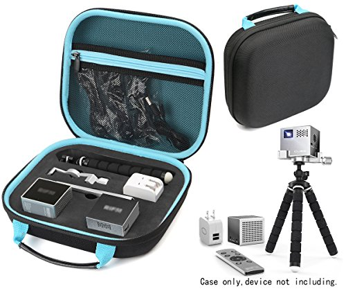 Protective Case for RIF 6 Cube Pico Projector, with Customized Sturdy Foam Inlay Also for RIF6 RF0062 Sound Bluetooth Speaker, RC Controller, Mini Tripod, Mesh Pocket for Cables and Other Accessories