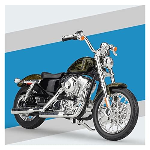 Boutique 1:18 Modelo De Motocicleta De Aleación Simulación En Miniatura para Harley 2013 XL 1200 V Setenta Y Dos Colección Coche De Juguete De Regalo (Color : Oro)
