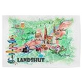 artboxONE Poster 45x30 cm Städte Landshut Illustrierte