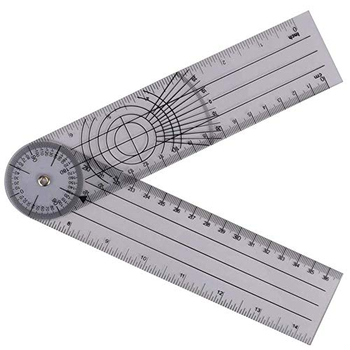Jenabom multi-regla Profesional 360 Grados Goniómetro Ángu