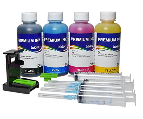 Kit InkTec tinta premium fotografico de carga cartuchos original HP 301, 301x l para impresora Deskjet 1513All-in-One