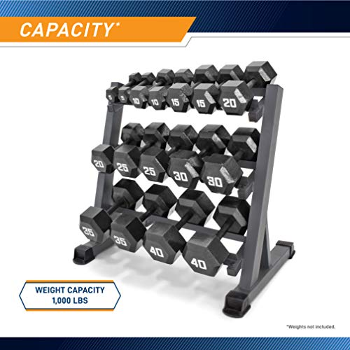 Marcy 3-Tier Dumbbell Rack Multilevel Weight Storage Organizer for Home Gym DBR-86