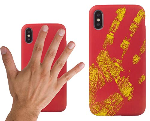 Xcessor Thermal TPU Heat Sensitive Case for Apple iPhone X. Red