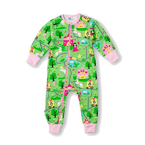 JNY Colorful Kids Combinaison pour bébé Fille Motif château de Princesse Vert - Vert - 2 Mois