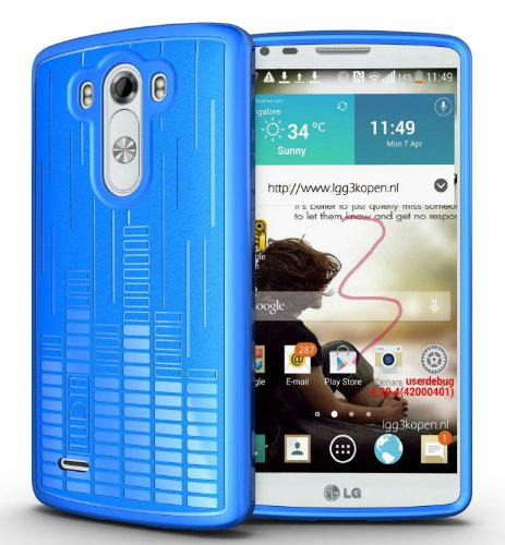 TUDIA Clef TPU Bumper Protective Case for LG G3 (2014) (Blue)