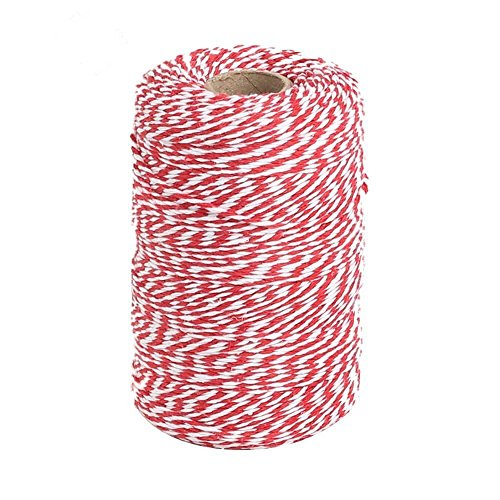 656 Feet Red and White Twine,Valentine Gift Twine String,Cotton Baker's Twine Cotton Cord Crafts Gift Twine String for Holiday