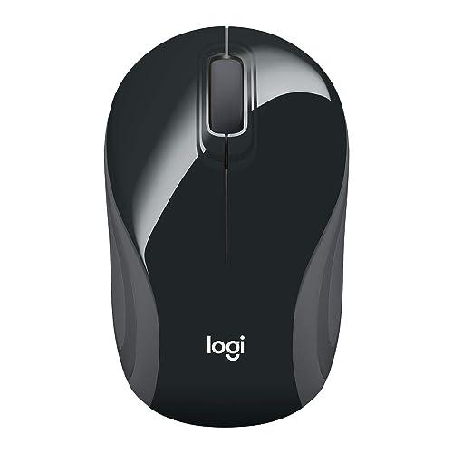 Logitech Wireless Mini Mouse M187, Pocket Sized Portable Mouse for Laptops, Black