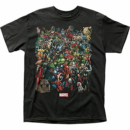 Ringz Comics Universe T Shirt Mens Superhero Movie Black Men T Shirt 100% Cotton Sleeve Shirt Black 3XL