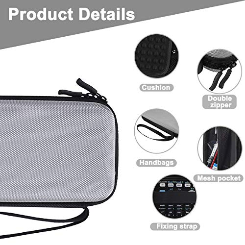 Xberstar Hard EVA Shockproof Carry Case Bag Pouch for Texas Instruments TI-84 Plus CE/Color TI-83 Plus,TI-89 Titanium, HP 50G Graphing, Scientific Financial Calculators (Gray) Photo #2