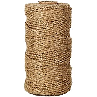 Natural Jute Twines, 328 Feet Bakers Twine, Art and Crafts Linen String for Vintage Tags / Labels Tie; Gardening Use
