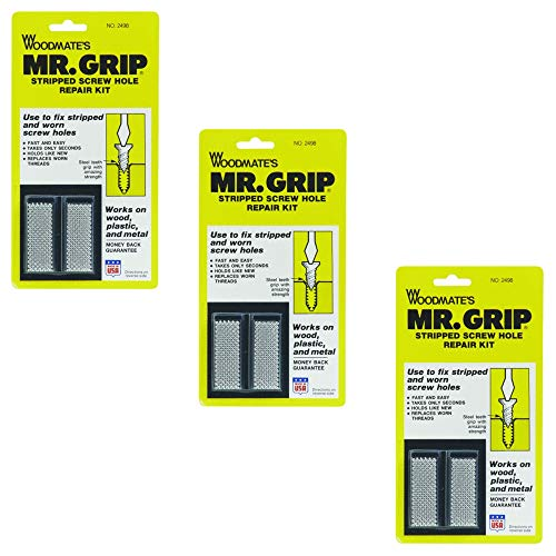 Woodmate 2498 Mr. Grip Screw Hole Repair Kit,Steel,Pack of 3